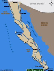 Cabo San Lucas Map and Driving Directions