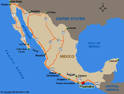 Huatulco Map and Driving Directions