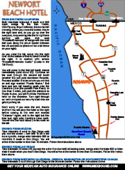 NewPort Beach Hotel Map and Driving Directions