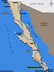 Todos Santos Map and Driving Directions
