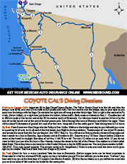 Coyote Cals Map and Driving Directions