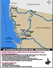 Driving Directions to Ensenada Wineries