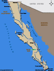 image of map or loreto mexico