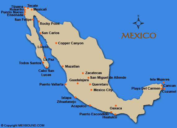 Mexico Map Map Of Mexico Mexico Driving And Road Maps Mexico - A map of mexico
