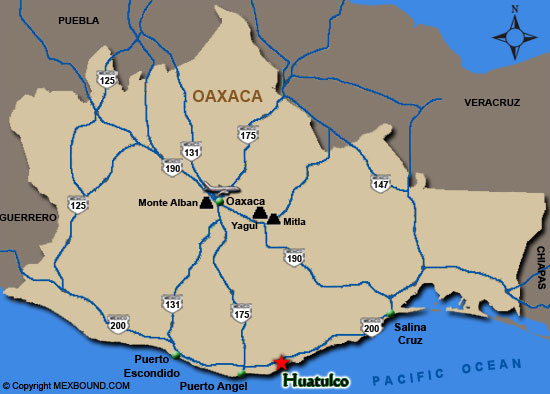 Guajaca Mexico Map.Huatulco Map And Driving Directions Bahias De Huatulco Oaxaca