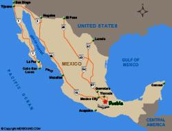 Puebla Map And Driving Directions Puebla Oaxaca Mexico Mexbound