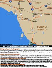 San Carlos Sonora Mexico Map.San Carlos Driving Directions